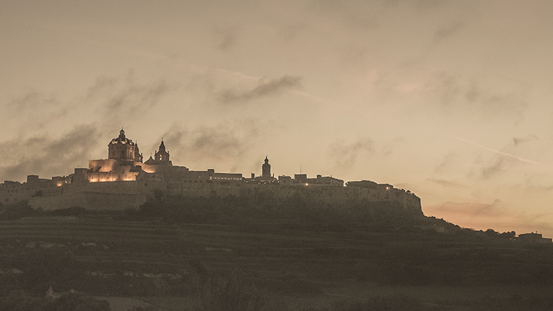 December sunset over Mdina. Credits: Stefan Jungreithmaier